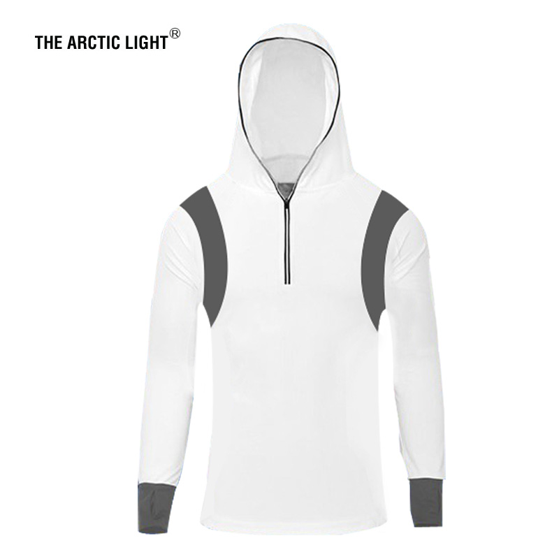 THE ARCTIC LIGHT Outdoor Fishing Shirt zonwerende kleding Lange mouw Hooded Clothes Male Sneldrogend Ademende kleding