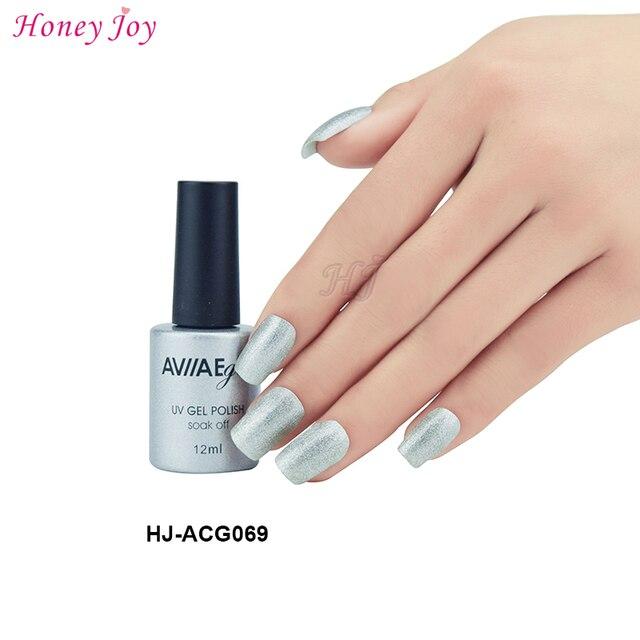 AVIIAE Brillan como el Color Plata Brillante Esmalte de Uñas de Gel ...