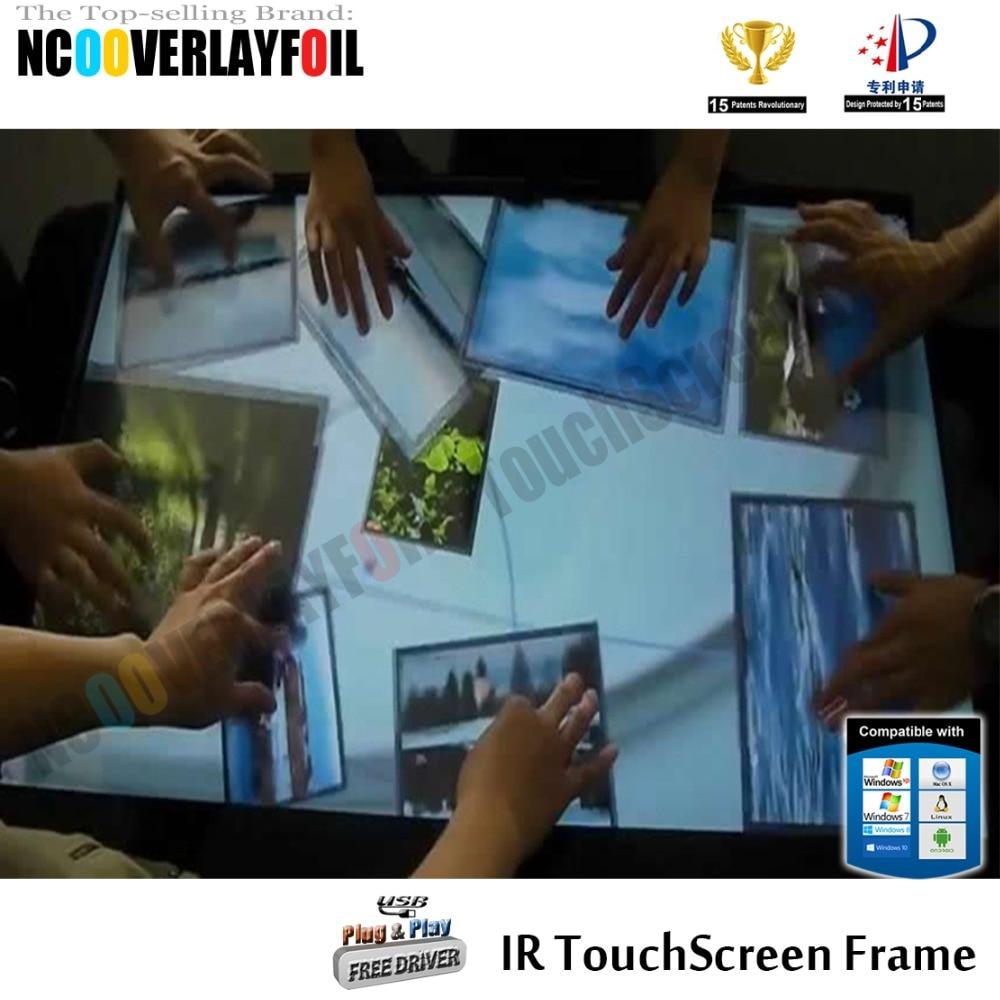"""Быстрая 5"""" ИК мульти сенсорный экран наложения комплект с 10 касаний для ЖК-экран монитор сенсорный стол"""