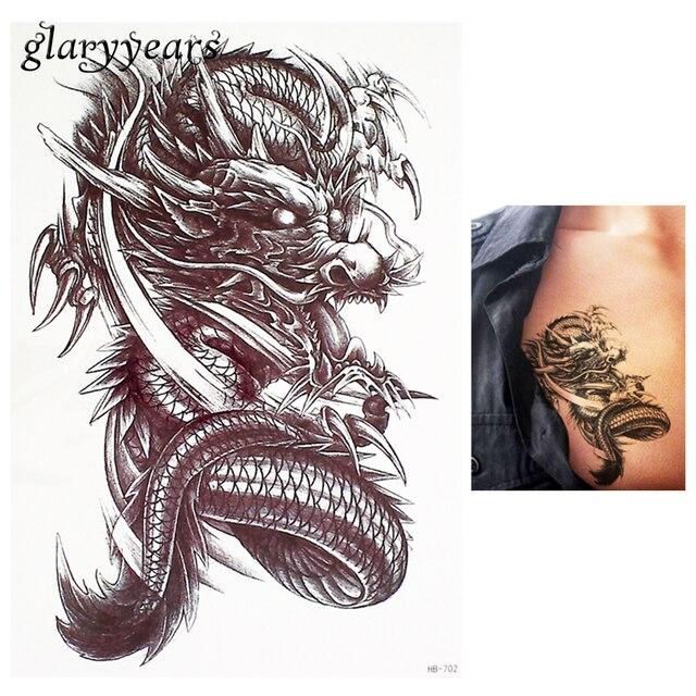 1 Pezzo Fiore Braccio Body Art Decalcomania Del Tatuaggio Feroce