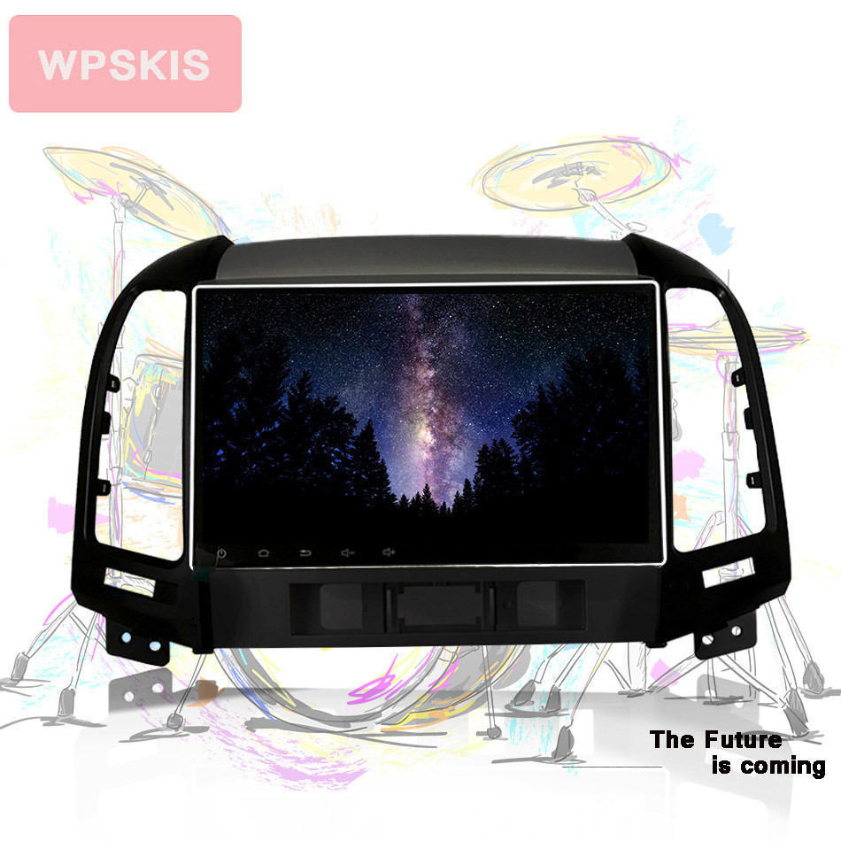 9 inch Android 9 0 System Car Radio DVD GPS for Hyundai Santa fe with wifi