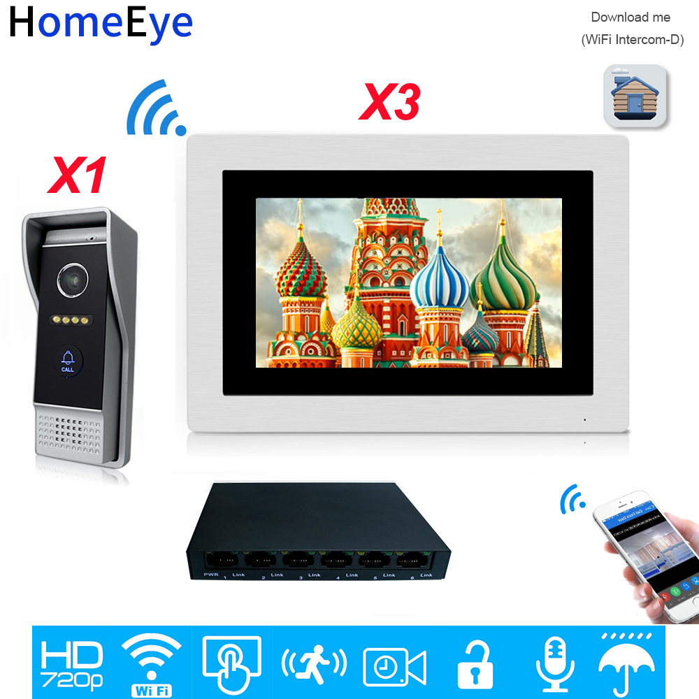 Homeeye 720P Wifi IP Video Door Phone Video Intercom Android/IOS APP Remote Unlock Home Access Control System Motion Detection