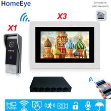 HomeEye 720P WiFi IP Video Door Phone Video Intercom Android/IOS APP Remote Unlock Home Access Control System Motion Detection touch screen wired wifi ip video door phone intercom video doorbell villa apartment access control system motion detection