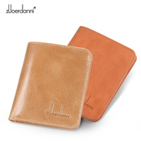 Ultra thin mini wallet men short purse Retro leather vertical purses female slim wallet high quality A605 1