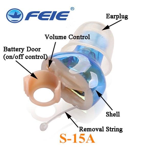 Wireless Mini Programmable Severe Hearing Aid S-15A Cheap Power Amplifier Auditive Amplificateur aliexpress earphones guangzhou feie deaf rechargeable hearing aids mini behind the ear hearing aid s 109s free shipping