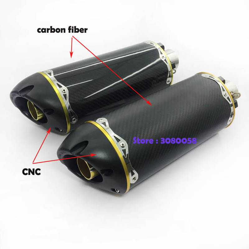 Universal Motorcycle Carbon Fiber Muffler Pipe Two Brothers Sticker Escape Motorbike TwoBrothers Racing Exhaust For Ninja CBR R1