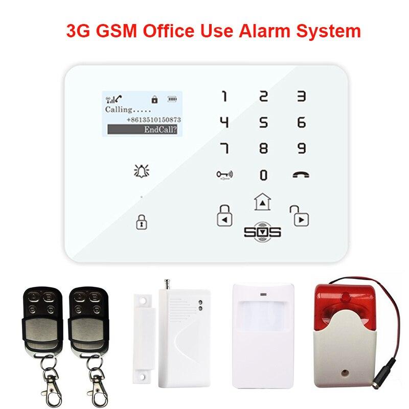 Alarme maison intelligente SMS télécommande russe espagnol GPRS sans fil GSM système d'alarme antivol/capteur de porte PIR détecteur de mouvement K9A