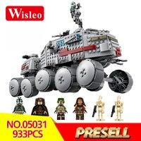 05031 Star Wars Classic Clone Turbo Tank Model Building Kits Blocks Bricks LegoINGlys 75151 Children Toys