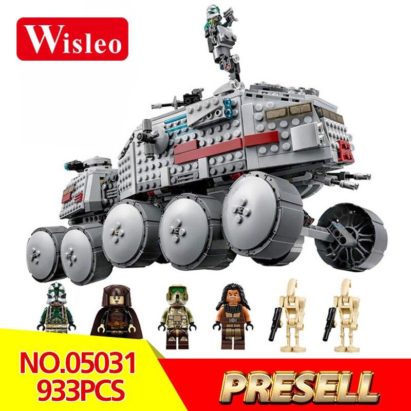 Wisleo 05031 Star Wars Classic Clone Turbo Tank model Building kits Blocks Bricks LegoINGlys 75151 Toys for Children Gifts