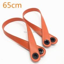 1 pair handle 2 pcs 6 colors PU leather handles for o big bag mini bag