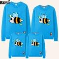 Famli 1 pc mãe filha roupas pai e filho outono inverno do hoodie moda character hoodies roupas camisolas família correspondência