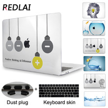Redlai Crystal Clear Case For Macbook Pro 13 15 Touch Bar A1706/ A1707 Cover Creative Lamps Laptop Case For Air 11.6 13.3 inch