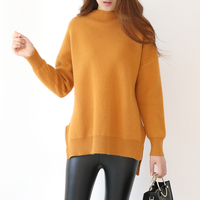 Casual Women Cashmere Wool Sweaters And Pullovers 2017 Autumn Winter Warm Thick Knit Tops Long Sleeve