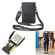 Women 6.3 inch Universal Cell Phone Bag Shoulder Card Pocket Case Wallet Pouch with Neck Strap For Samsung Galaxy Note 8 S10 M20