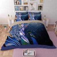yeeKin Beautful 3D Peacock Pattern Princess Bedroom Bed spreads Sets Twin Size 100% Polyester Peacock Girls Gift Bedding Duvet