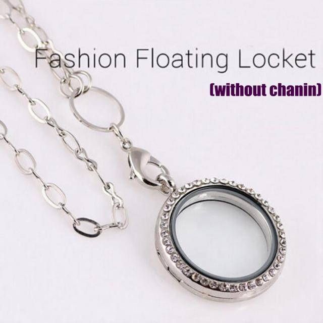 1 PC Living Memory Floating Charms Glass Round Locket Pendant Necklace Charm Locket Necklace Pendant Nice Gift