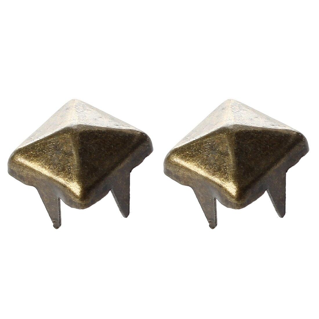 Hhtl-100 X 6mm Fai Da Te Piramidi Rivetti Gotico Bronzo Per Con Cintura Cappotto