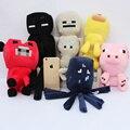 Big Size 6pcs/set 25- 40CM Minecraft Plush sqid plush Toys enderman Creeper Plush baby ship octopus cow