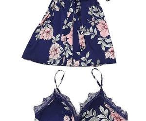 Image 4 - Fdfklak pijamas florais 2018 primavera verão sexy pijama 3 peça pijamas para a mulher de seda noite terno pijamas conjuntos casa roupas q952