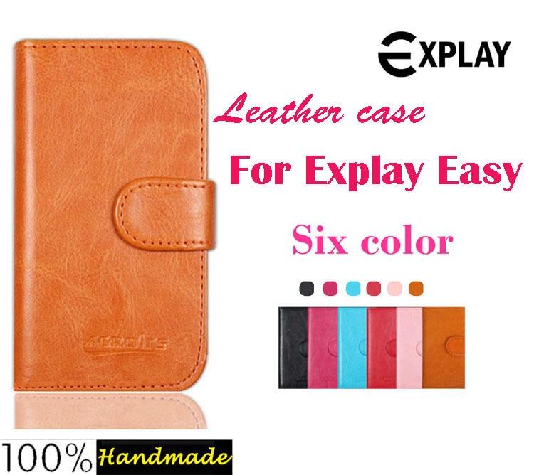 ᓂExplay Easy case, alta calidad Flip Funda de cuero para explay ...