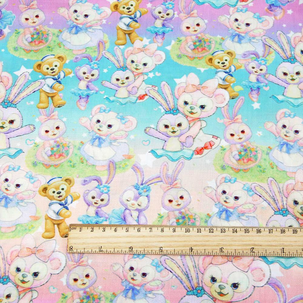 デビッドアクセサリー 50*145 センチメートル漫画パッチワークポリエステル綿生地組織子供ホームテキスタイル縫製ティルダ人形、 c2226