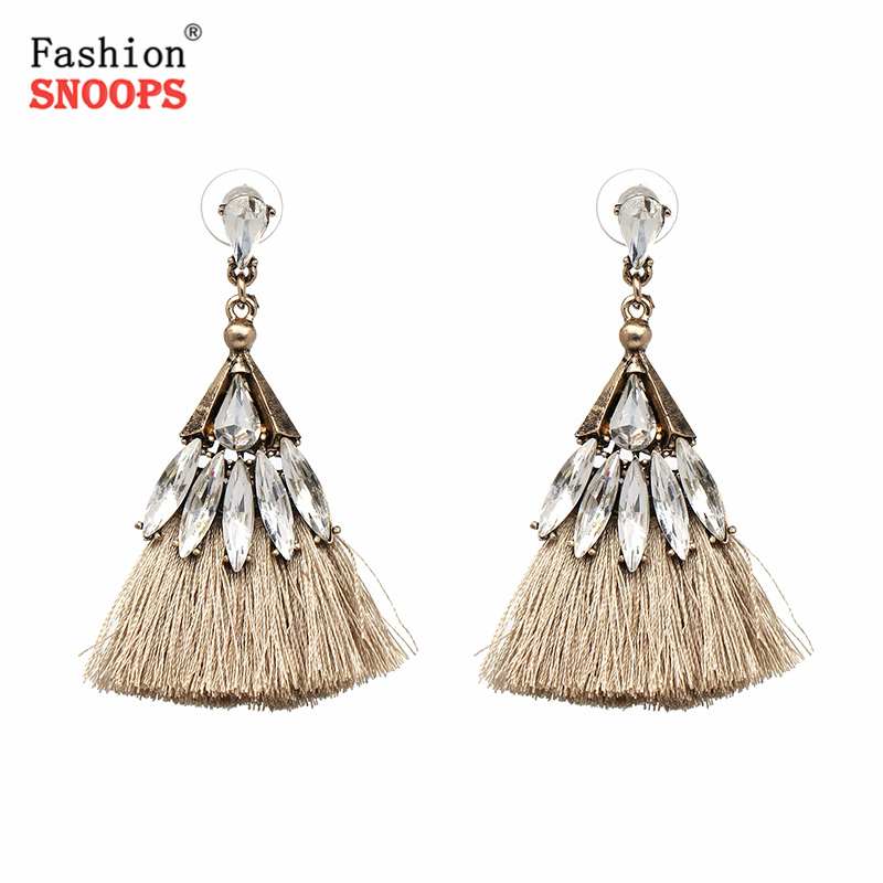 New Cotton Handmade Earrings Ethnic Jewelry Bohemia Tassels Dangle Earrings For Women Wedding Accessories