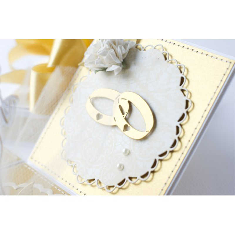 Wedding Rings Metal Cutting Dies DIY Scrapbooking Embossing Album Paper Cards Making Crafts Supplies New 2019 Diecut Cut Dies