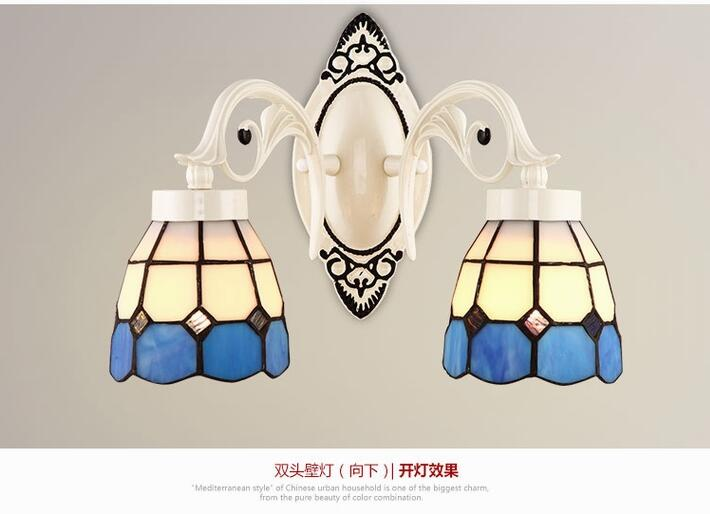 European style Tiffany wall lamp simple creative living room bedroom led bedside lamp Jane European retro wall lamp european style square grain wall lamps simple creative living room bedroom led bedside lamp jane european retro wall lamp z10