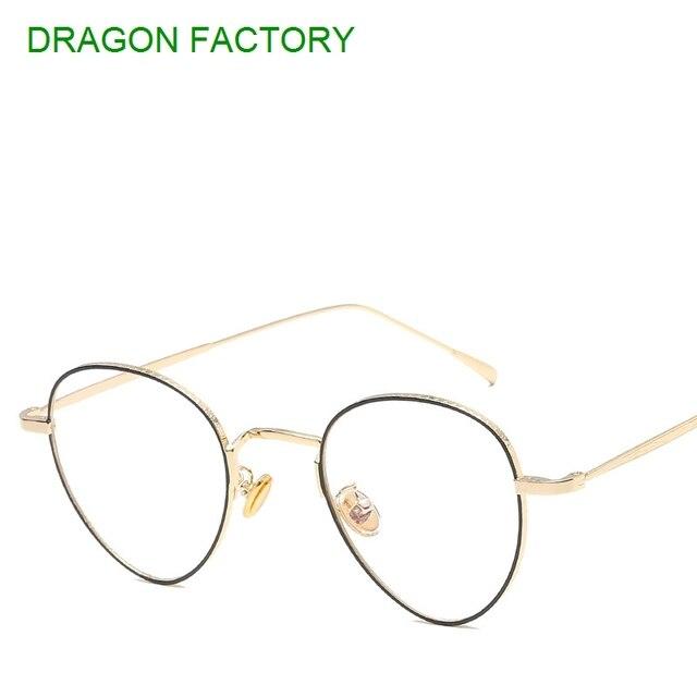 30384fcb85 new metal flat mirror for men and women general female male glasses retro  round designer glasses
