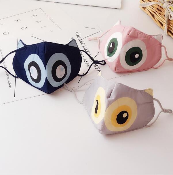 Children's Autumn Winter Thicken Cartoon Mask Boy Girl Kids PM 2.5 Breathable Cotton Mouth-muffle R669