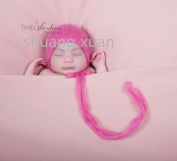 Handwerk Baby hand Knit Mohair Motorkap, Baby Fotografie Props. Fotografie prop. op Kraamcadeau 5