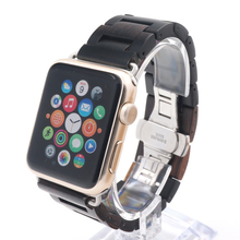 Luxury Handmade Wooden Strap Classic Buckle Watch Bands With Watch Band Adapter For Apple Watch iWatch