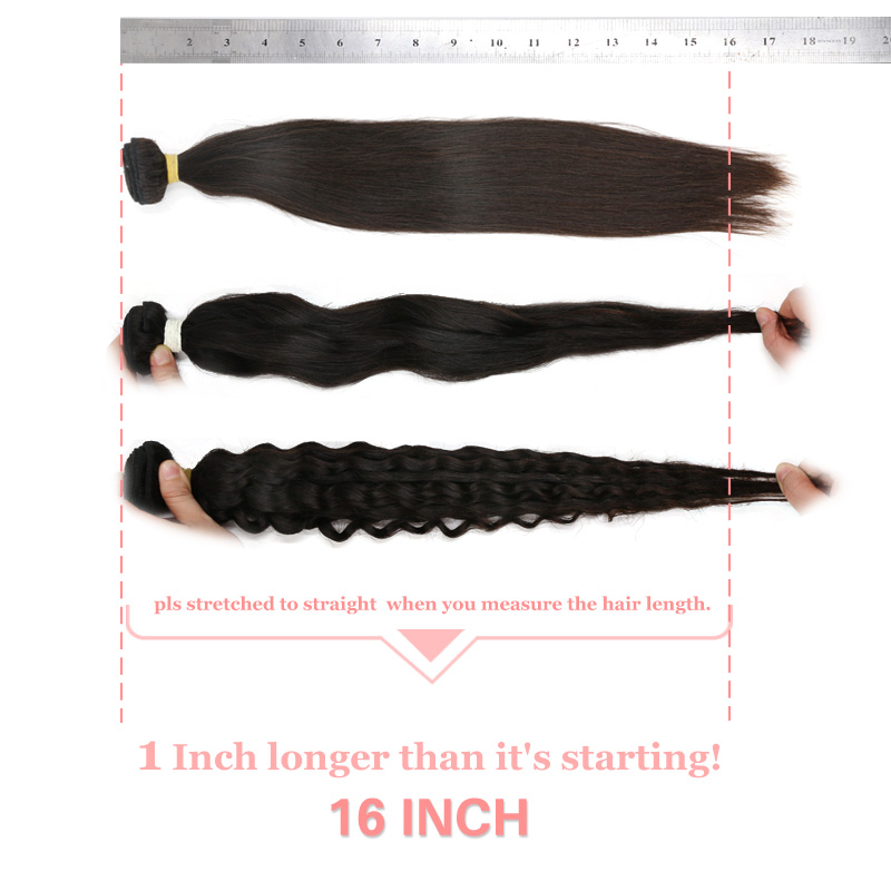 Ali Queen Hair Brazilian Natural Wave Virgin Human Hair Pro. Ratio 9A 3 Bundles With Lace Closure Free/Middle Part Pre-Plucked