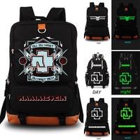 Rammstein School Bag Rock Band Backpack Student School Bag Notebook Backpack Leisure Daily Backpack
