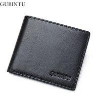 GUBINTU 100 Genuine Leather Wallet Men Top Quality Wallet Rfid Card Holder Multi Pockets Wallet For