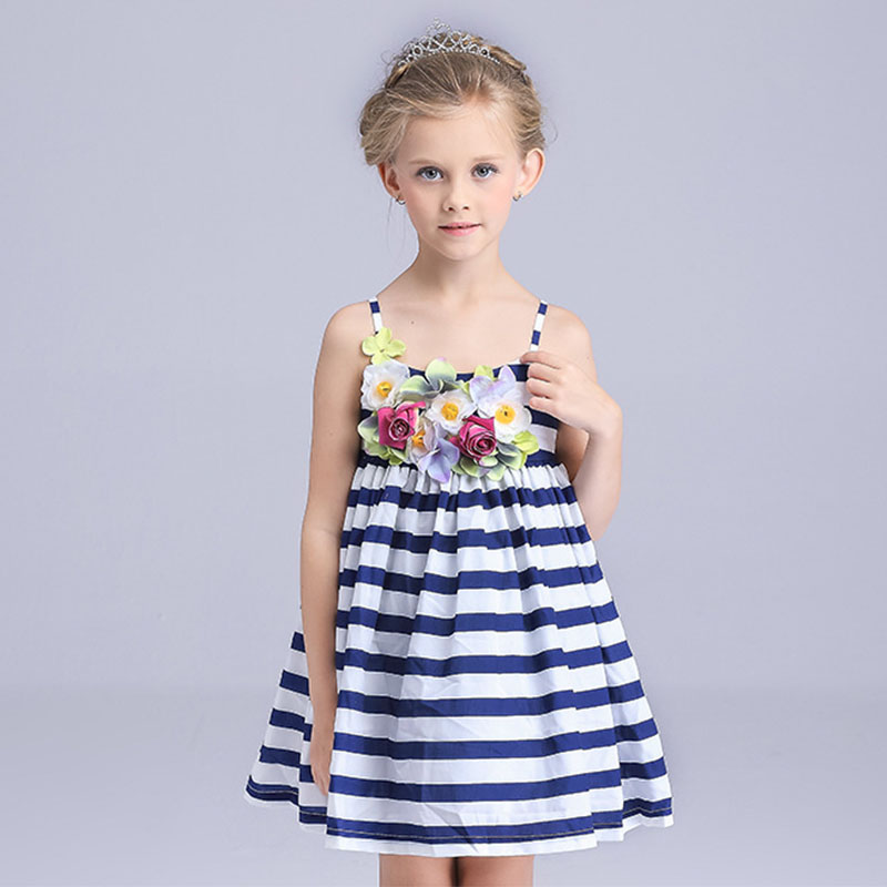 a892926c9036 flower girl dresses blue striped sundresses for teenagers girls ...