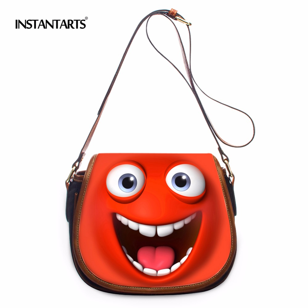 INSTANTARTS Cute Women Small Messenger Bags Designer Emoji Handbag Ladies Shoulder Crossbody Flap Bags sac a main bolsa feminina red hat® fedoratm linux®3 for dummies®