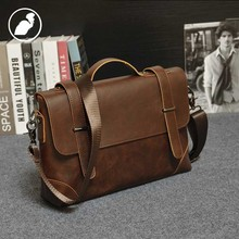 ETONWEAG New 2017 men brands cow leather business style handbags laptop shoulder bags brown cover high quality messenger bag