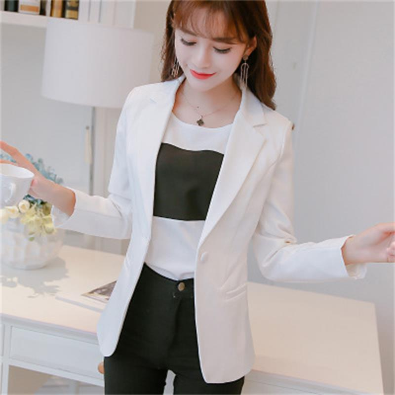 2018 new Korean large size fashion Slim long-sleeved small suit thin jacket work workplace suit jacket