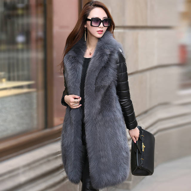 Aliexpress.com : Buy Women's Real Fur Coat Fox Fur with Removable ...