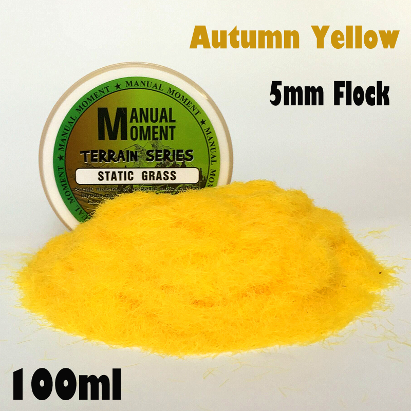 Miniature Scene Model Materia Autumn Yellow Turf Flock Lawn Nylon Grass Powder STATIC GRASS 5MM Modeling Hobby Craft  Accessory