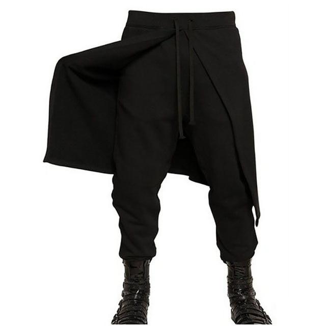 2017 de Alta calidad negro marea hombres harem pantsMen Informal Hombres Basculador Pantalones Comfort Ventilar Los Hombres pantalones Harlan