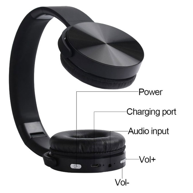 Wireless headphones with microphone for computers