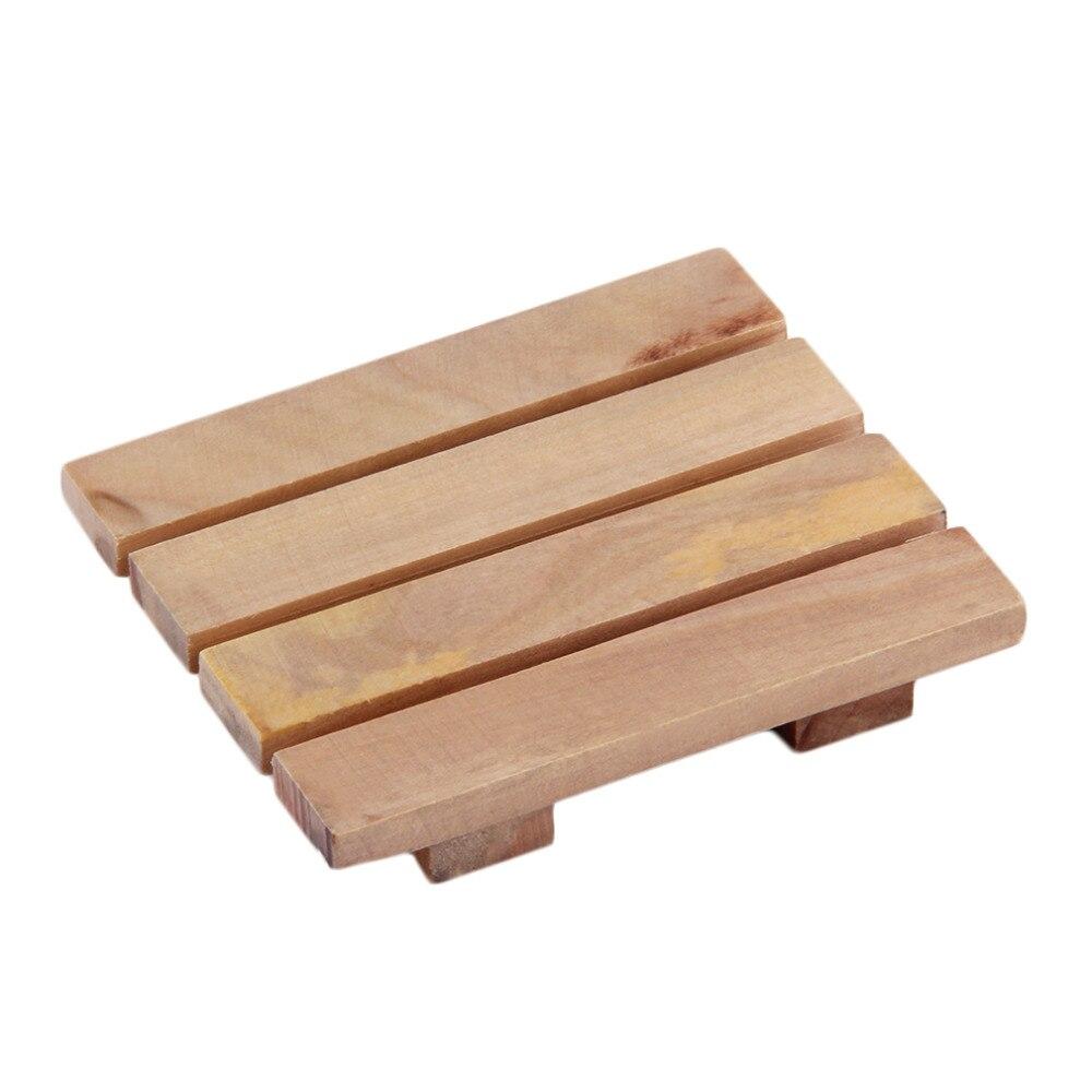8*7 Cm Natürliche Holz Holz Seifenschale Ablage Halter Bad Dusche Platte Unterstützung Tablett Dusche Platte Waschen Seife Bad Klar Und Unverwechselbar