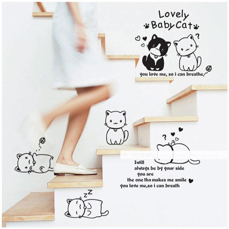 Wall Sticker Hello kitty kawaii cat Plasted home Decor ...