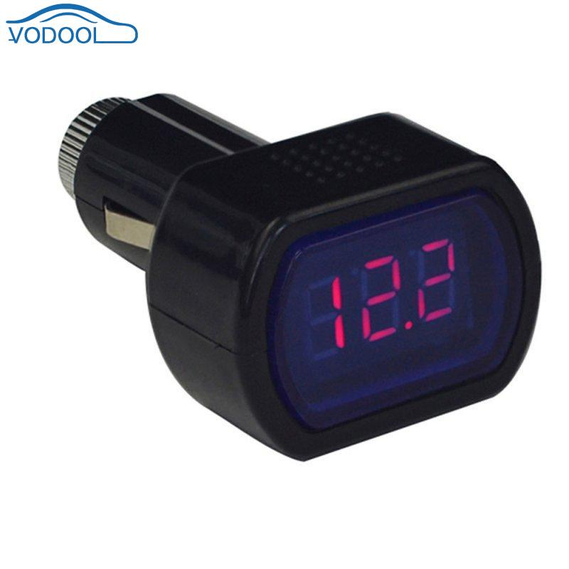 Mini Digital Car Vehicle Battery Voltage Meter Red LED 3 Display Tester Voltmeter For DC 12V 24V Cars Auto Accessaries