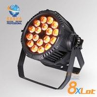 8X SUPLIER סין IP65 עמיד למים 18 יחידות הרבה * 18 W RGBAW 6in1 + UV LED Par אור חיצוני LED אירוע מסיבת אור הנקוב לבמה