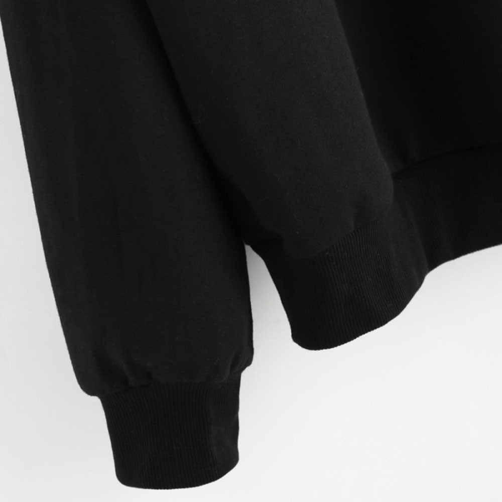 Missomo Wanita Kaus Plus Ukuran 3XL Tanaman Top Lebih Tahan Dr Hoodie Kucing Ruput Leher Bulat Lengan Panjang Dropshipping