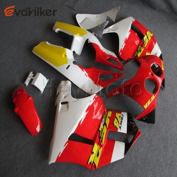 Custom motorcycle cowl for VFR400R NC30 1989 1993 ABS Plastic motorcycle fairing order+yellow white red