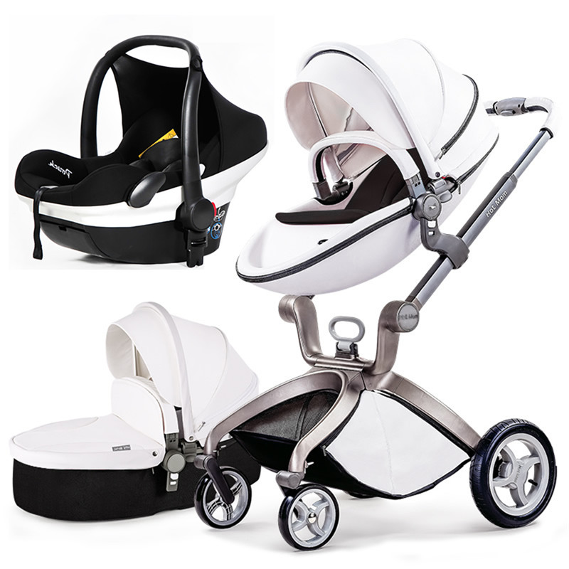 Hotmum  Baby Stroller brand 3 in 1 carriage 2 in 1 baby stroller folding light trolleys  shock baby stroller newborn gifts